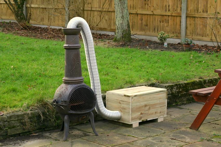 Коптильня состоит из топки, дымоходной трубы и камеры закладки продуктов