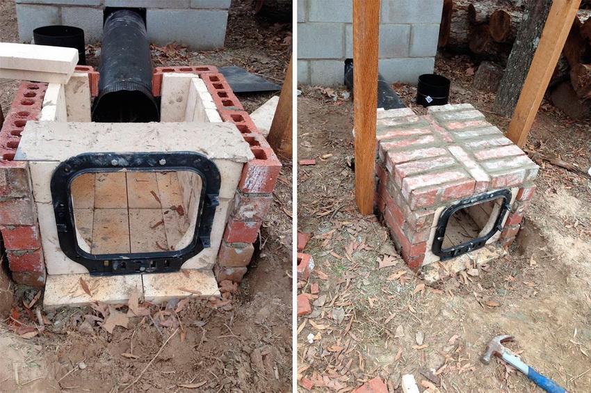 Топка для коптильни из кирпича - надежное сооружение, которое будет служить длительный срок