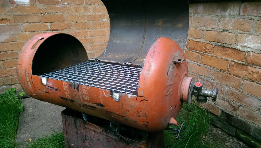 Газовый баллон - идеальная основа для изготовления мангала своими руками