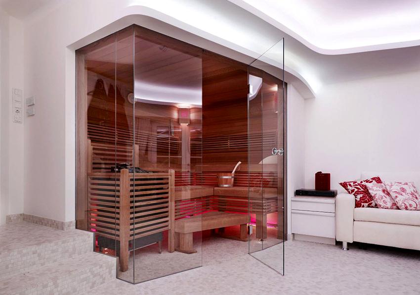 При желании в комнате для отдыха можно поставить комфортабельный диван