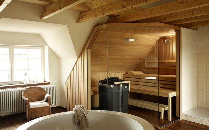 В первую очередь мебель в баню или сауну должна быть влаго- и термостойкой
