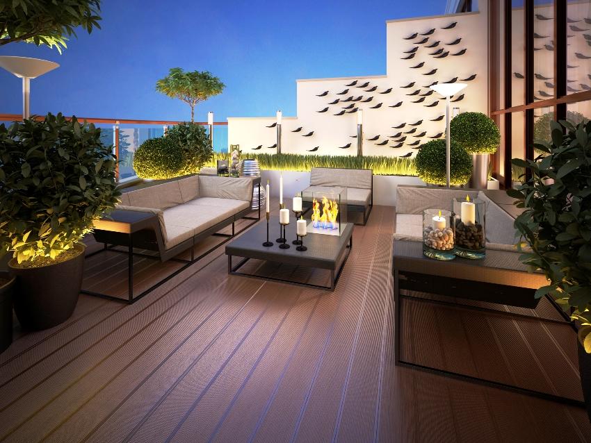 Качественная мебель для веранд и террас хорошо переносит дождь и солнечный свет