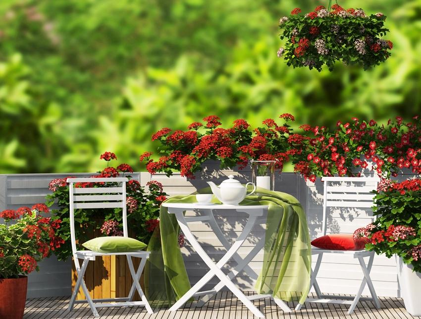 Мебель для террасы должна хорошо переносить любые погодные условия