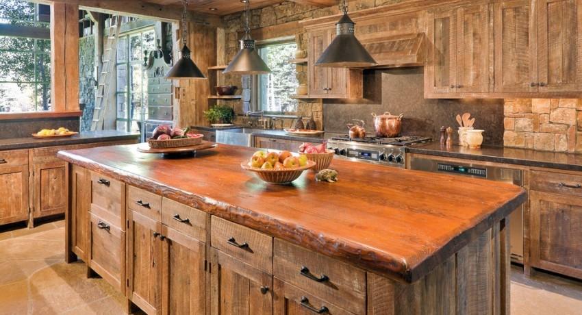 Своеобразной «отдушиной» может стать интерьер, созданный на основе натуральной древесины