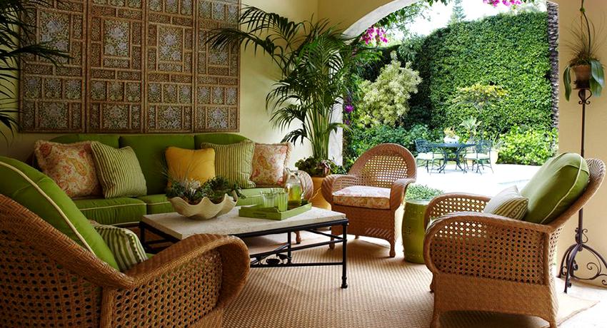 Rattan furniture: wicker lace in interior design