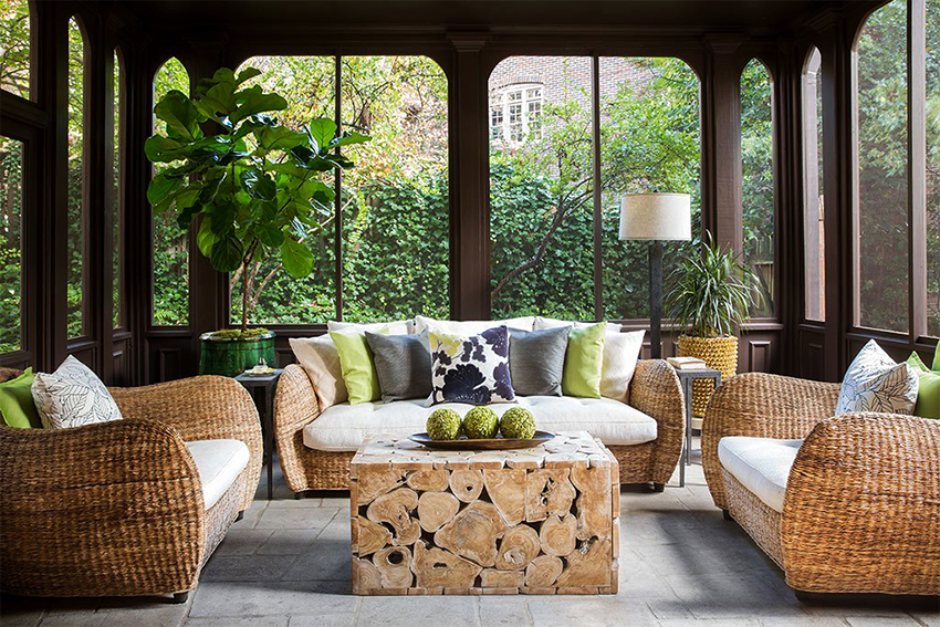 The rattan sofa will look gorgeous in the living room, office or on the veranda