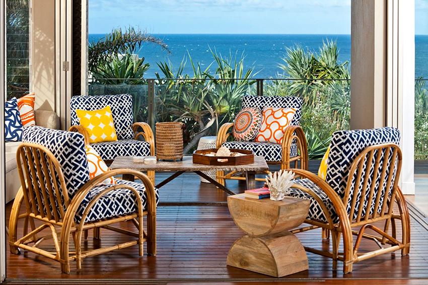 Ротанговое кресло – самый популярный вид мебели из этого материала