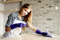 Рабочие поверхности необходимо протирать влажной губкой, а затем вытирать насухо