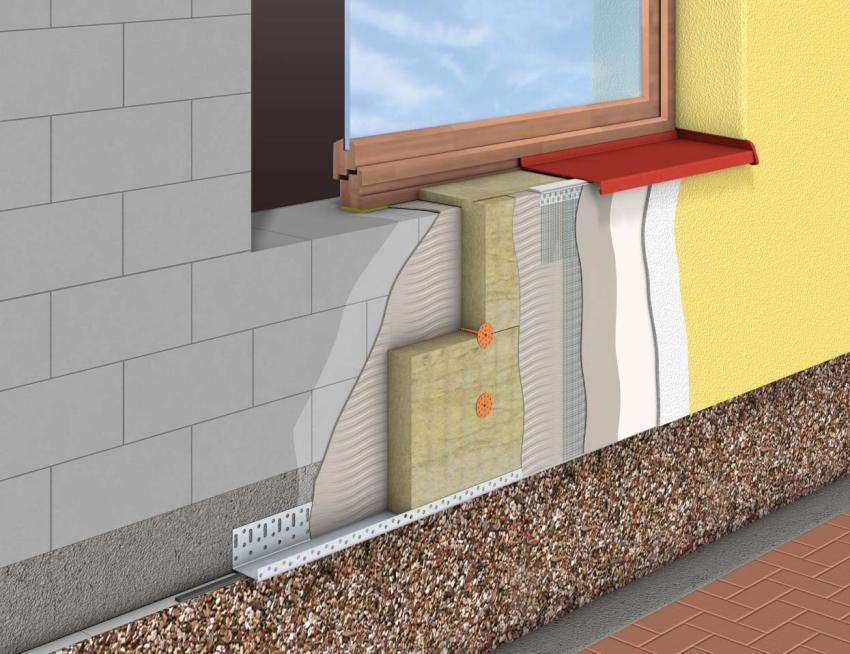 Хотя мокрый фасад и значится как многослойная конструкция, все же он имеет небольшой вес