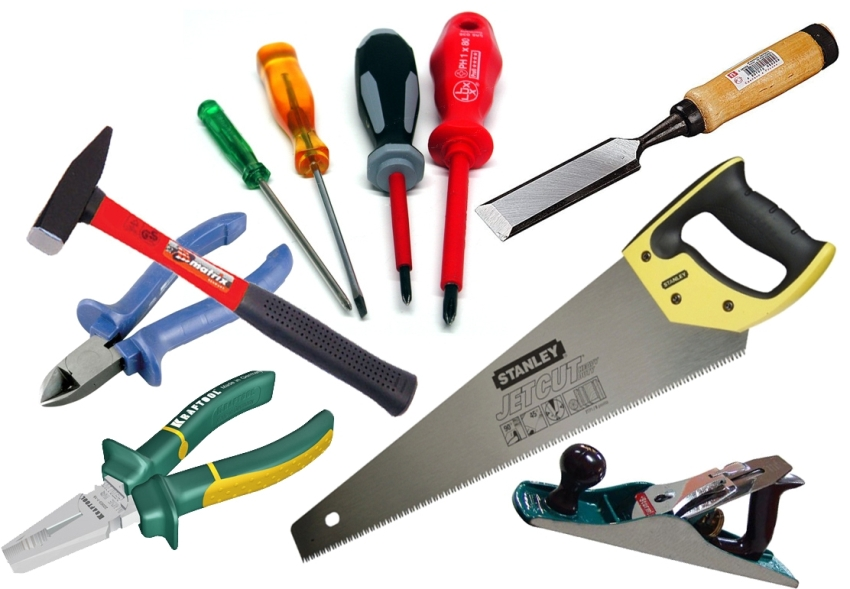 Список инструментов для выполнения работ по технике мокрого фасада включяет в себя практически весь арсенал опытного строителя