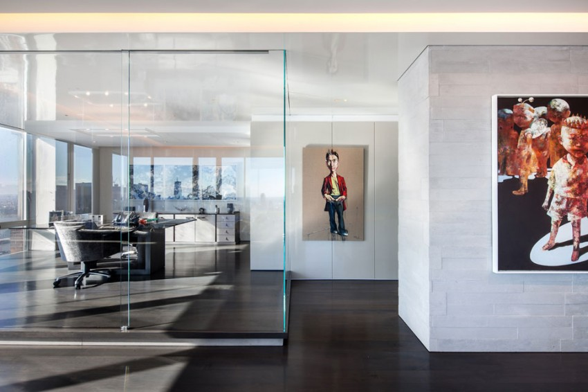 All-glass partitions are optimally used in office premises that adhere to the concept of open space