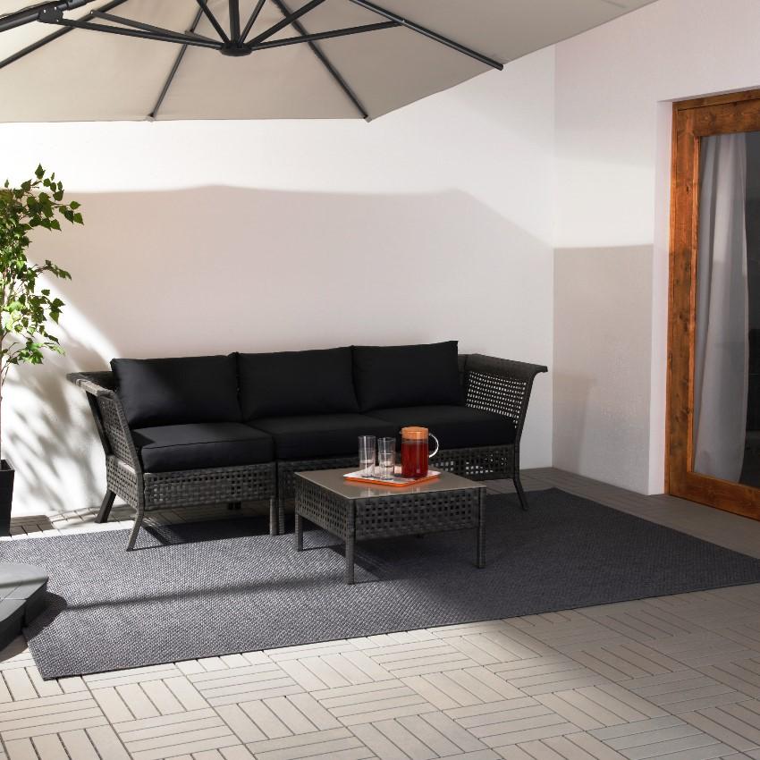Набор садовой мебели КУЛЬГСХОЛЬМЕН предназначен для комфортного, современного отдыха
