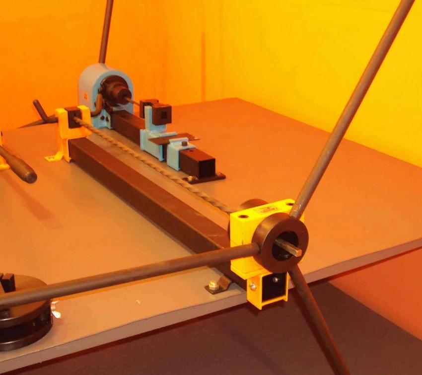Изготовление скрученных прутков на торсионном станке методом холодной ковки