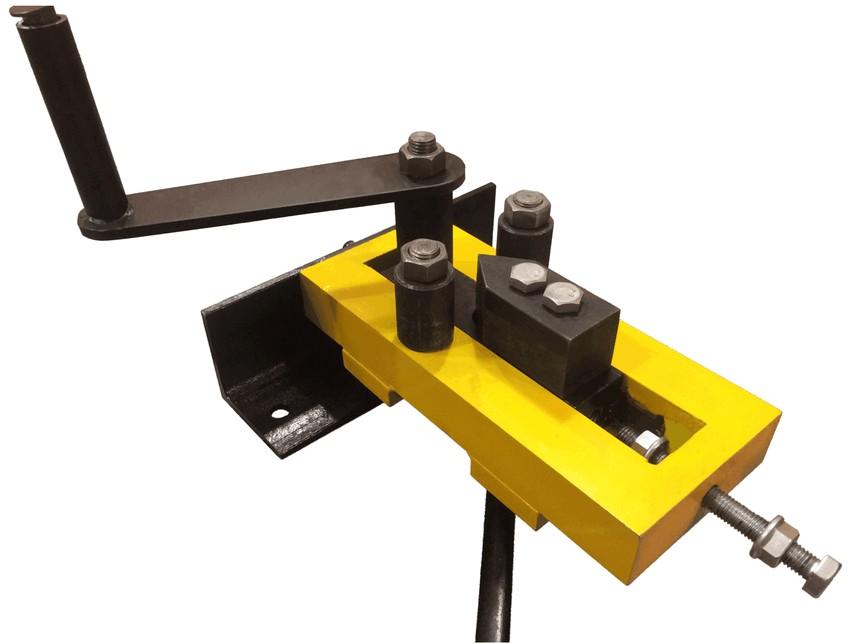 Модель станка гнутик для изготовления угловых или волновых заготовок методом холодной ковки