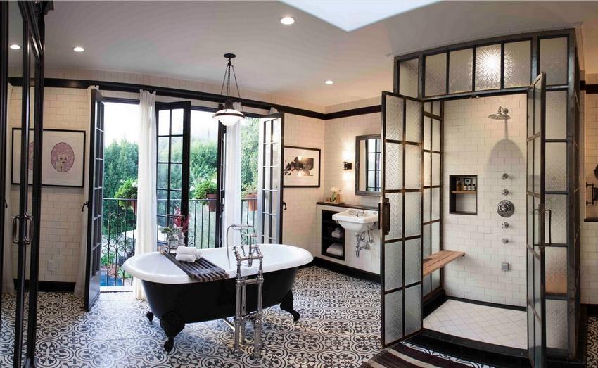 Душевая перегородка из стекла смотрится выгодно в любом стиле дизайна ванной комнаты