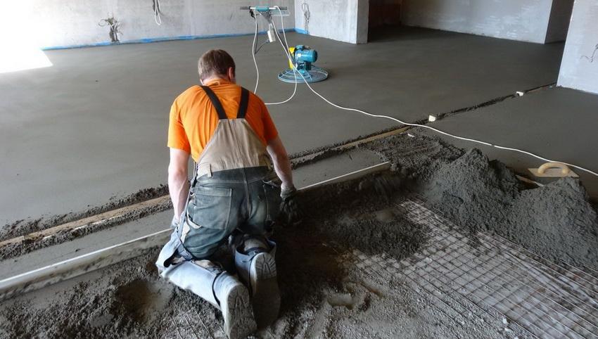 Наборный метод стяжки пола с керамзитом лучше использовать в помещениях, где не предполагается высокая влажность