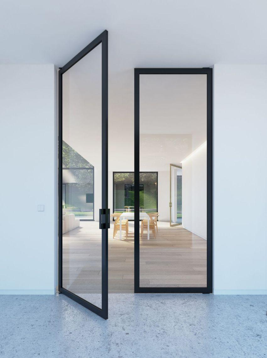 В качестве вставок во входную дверь могут устанавливаться однокамерные и двухкамерные стеклопакеты