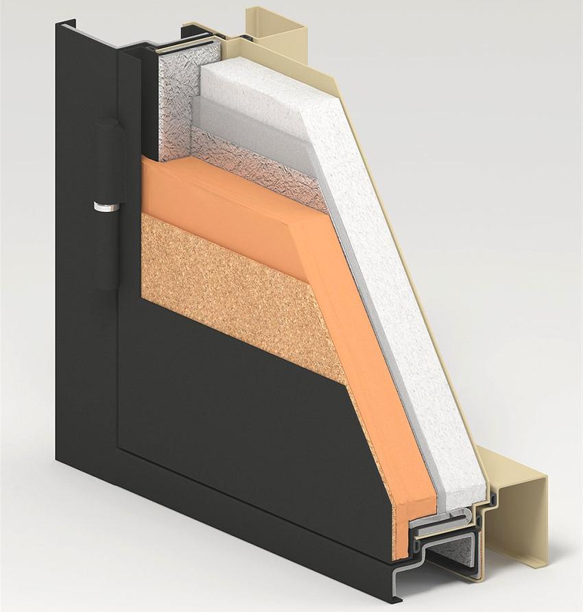 Если алюминиевая дверь будет установлена на входе в отапливаемое помещение, то она должна быть оснащена терморазрывом
