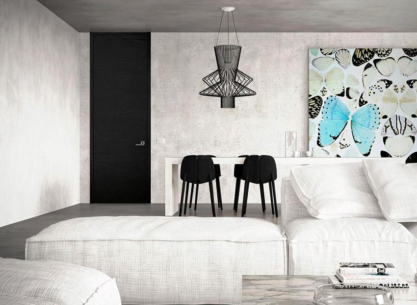 Самые популярные цвета дверей из алюминия – это черный и белый