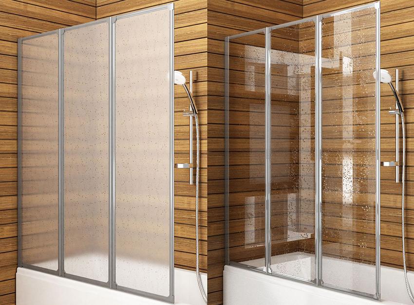 Двери для душевых кабин бывают раздвижные, распашные или складывающиеся