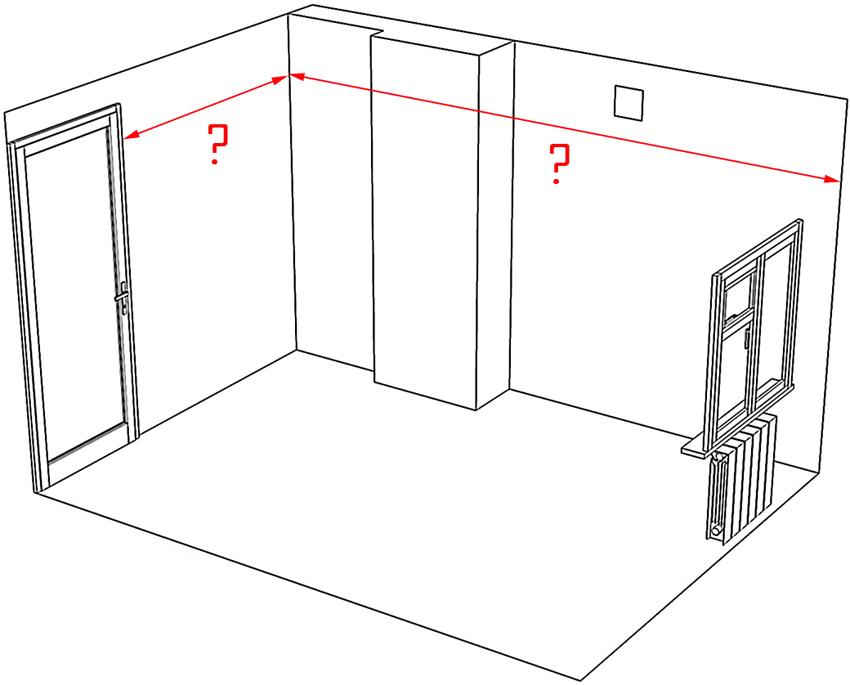 Для расчета периметра нужно измерить все стены комнаты