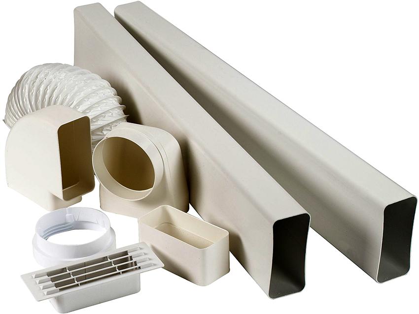 Размер сечения короба должен соответствовать величине патрубка воздуховода