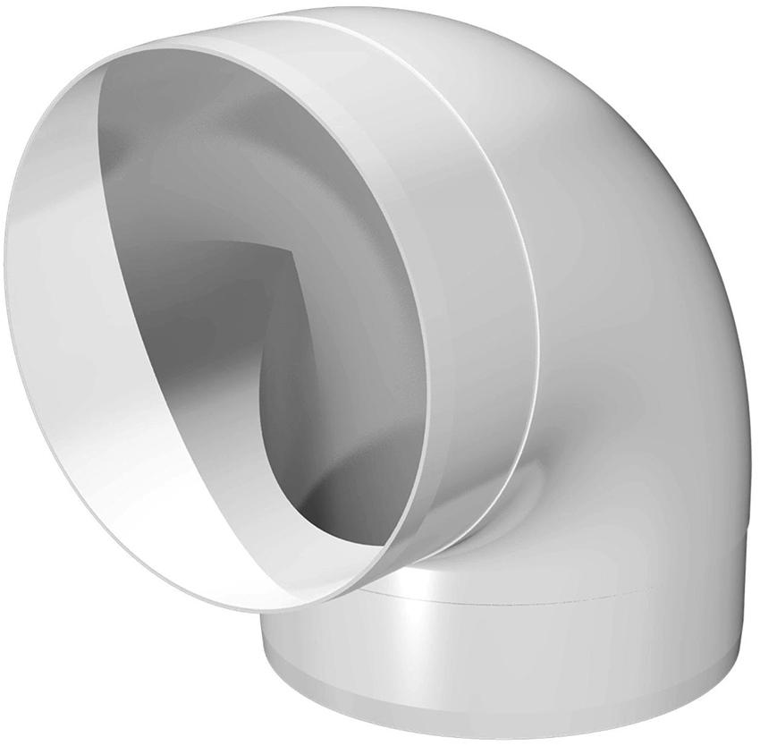 Если необходимо сделать вентиляционный короб с поворотом, то для этого используются специальные колена
