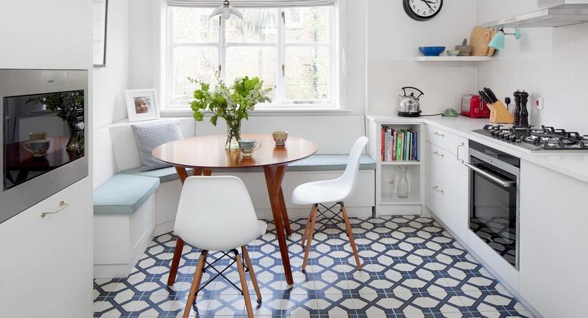 Круглый стол на кухню: классический акцент в современном интерьере