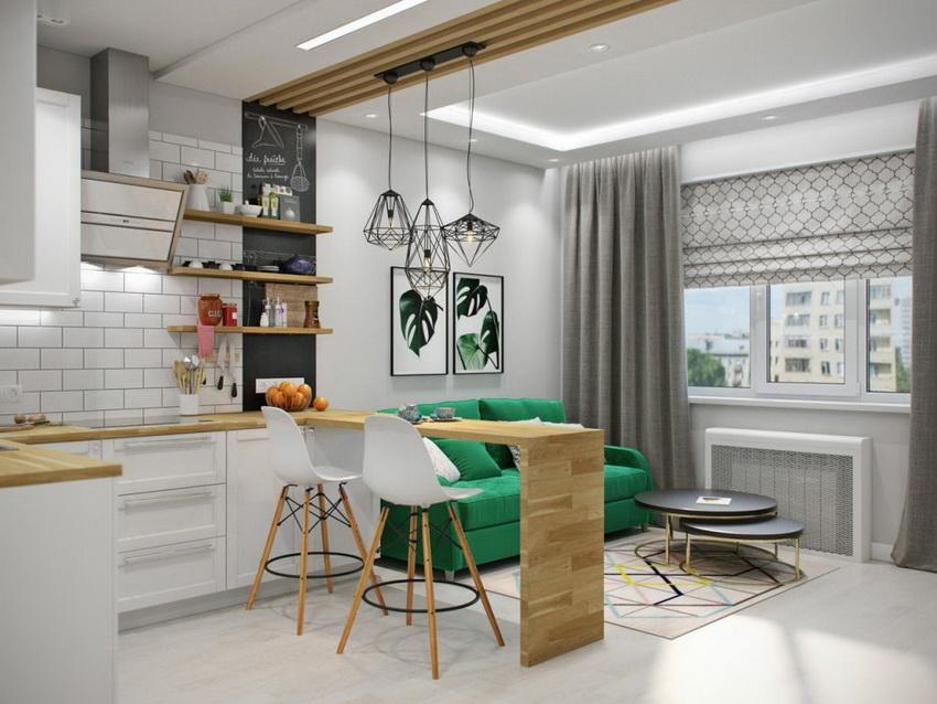 Стол для маленькой кухни может быть сделан из любого материала, главное, чтобы он вписывался в общий интерьер