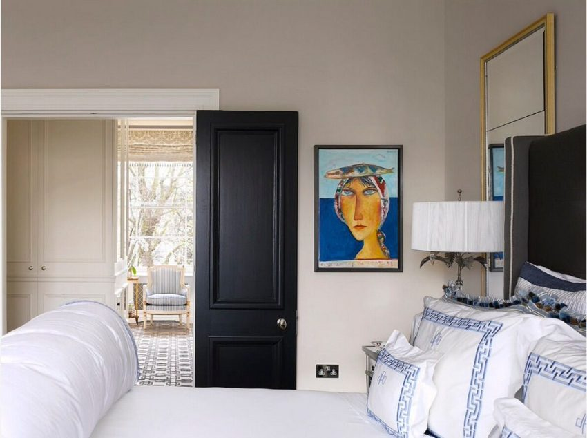 Филенчатые двери часто используются в современном интерьере