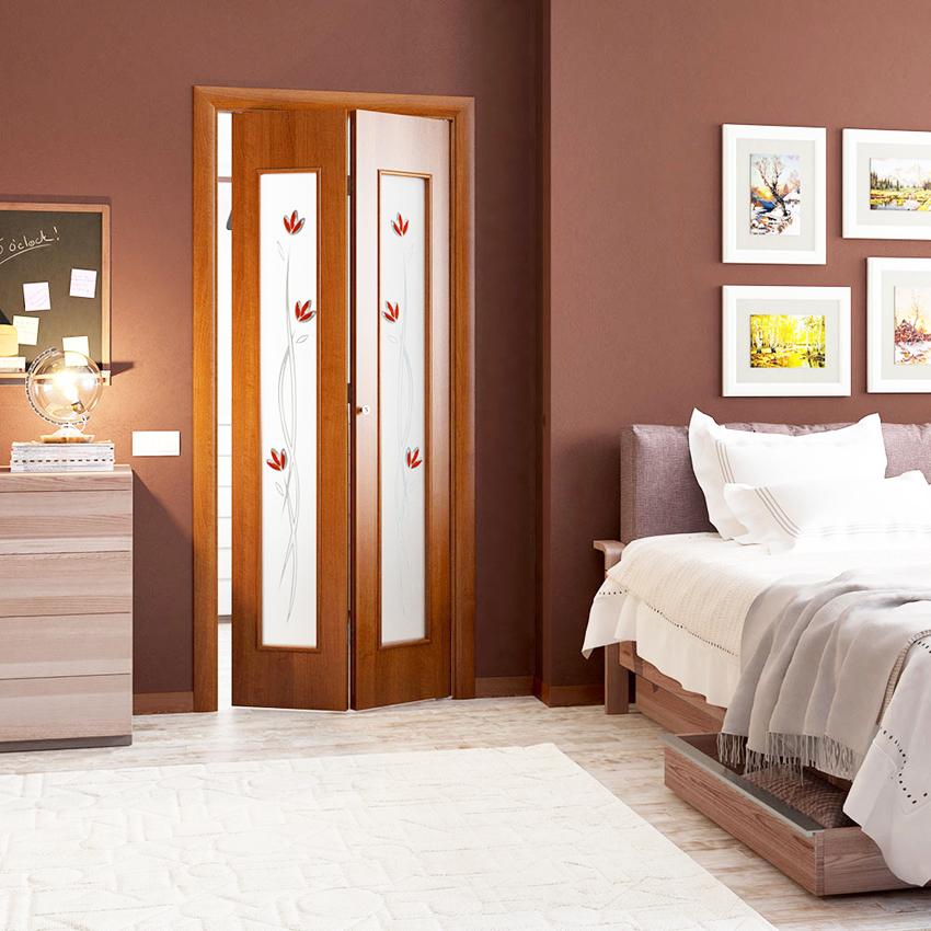 Складная дверь-книжка - отличный вариант для интерьера, если не хватает места установить распашную конструкцию