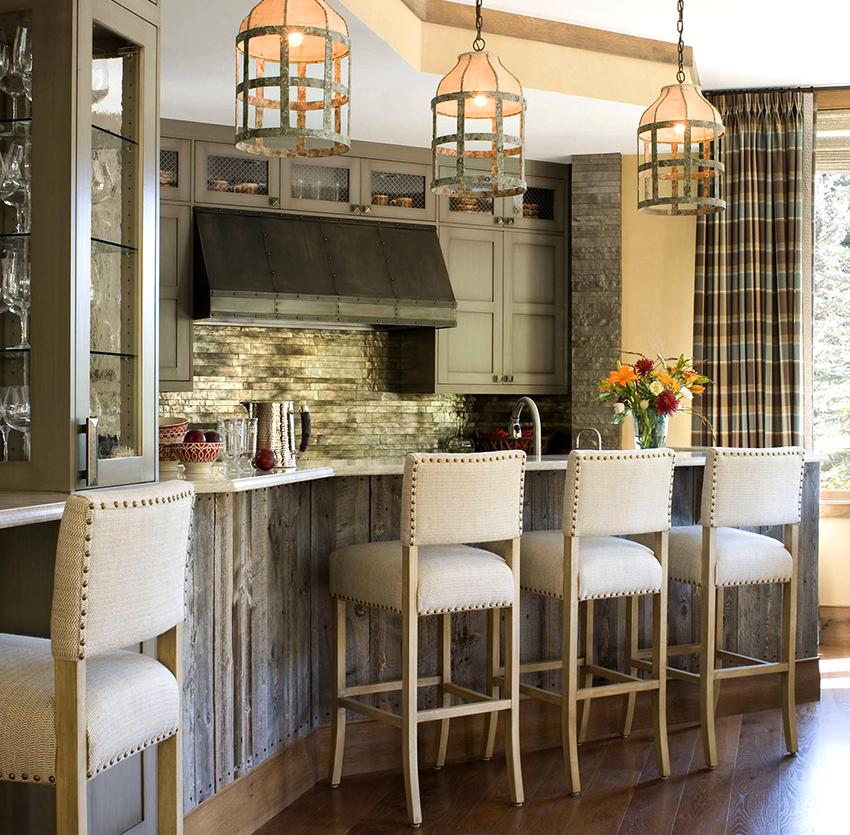 Как правило, высота барных столов для кухни варьируется от 90 до 135 см