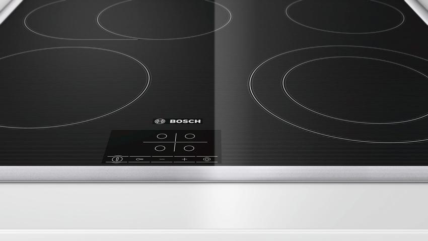 Bosch выпускает плиты со стеклокерамической поверхностью High Speed, которая отличается высокой прочностью, износостойкостью и долговечностью