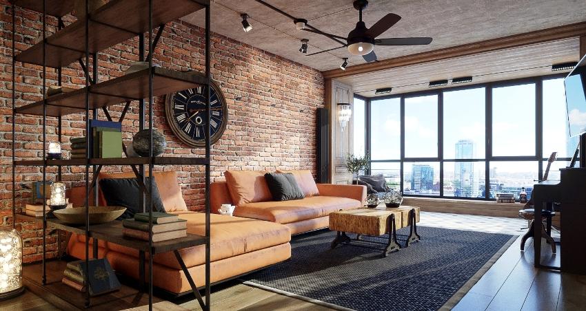 """Дом выполненный в стиле """"лофт"""" - это тот самый дизайн-проект, который требует минимального количества времени и средств"""