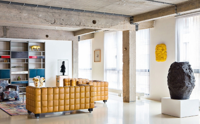 Сам дизайн мебели стиля лофт должен быть неординарным с неожиданными деталями, элементами
