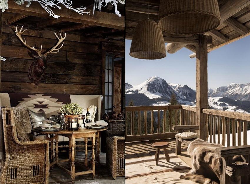 Естественно, интерьер и экстерьер дома шале выполняются в одном стиле