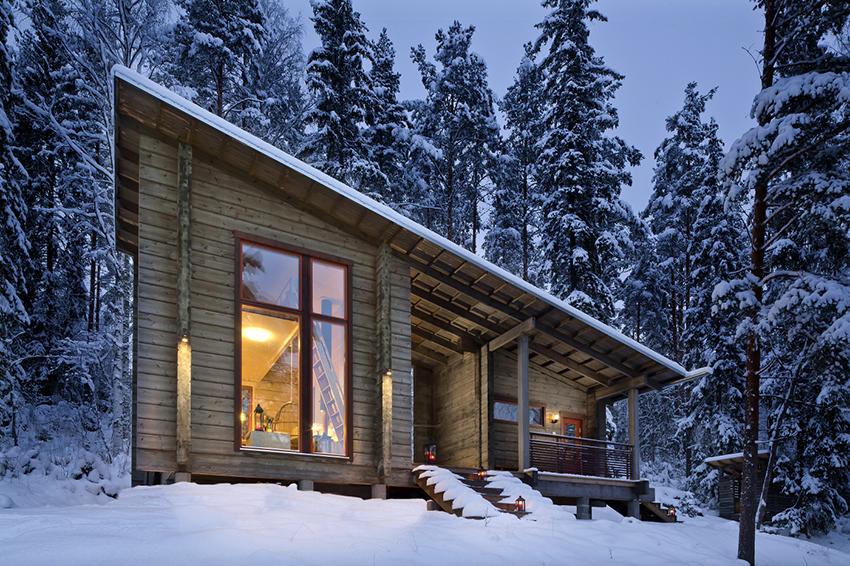 Дома из клееного бруса в стиле шале идеально подходят для любителей природы