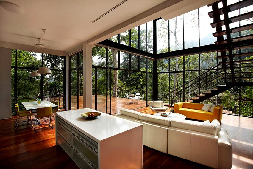 Помещения фахверковых домов просторные и с высокими потолками