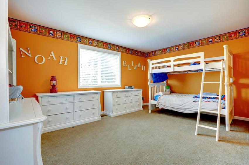 МДФ является наиболее популярным и дешевым материалом для изготовления двухэтажной кровати
