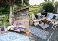 Из поддонов можно изготавливать самые разнообразные предметы декора и мебель для дачи