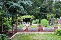 Специально обустроенные грядки позволяют оптимизировать пространство, предназначенное для выращивания овощей и зеленых культур