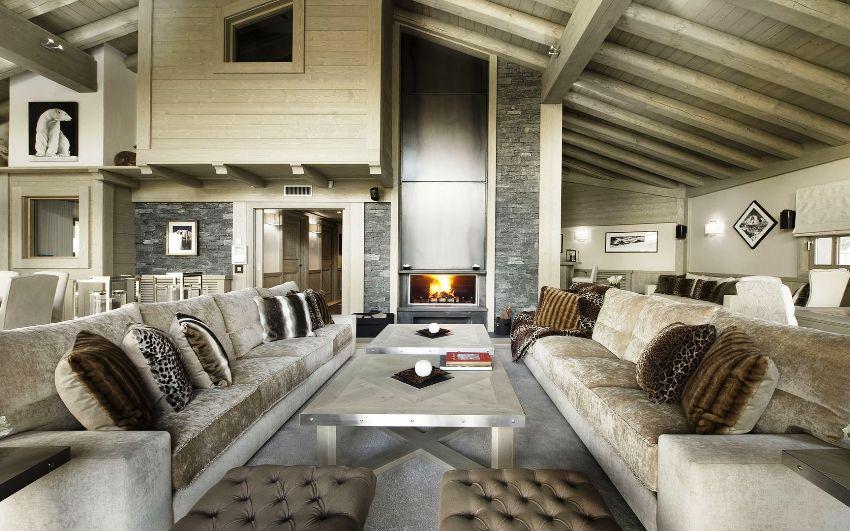"""Стиль """"альпийских домиков"""" в обязательном порядке предусматривает сочетание в интерьере дерева и натурального камня"""