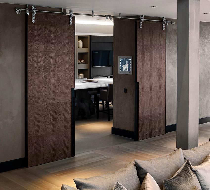 Раздвижные двери идеально подходят для маленьких квартир