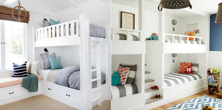 Белый цвет весьма часто используется в дизайне детских комнат, потому что придает ему легкости и изящества