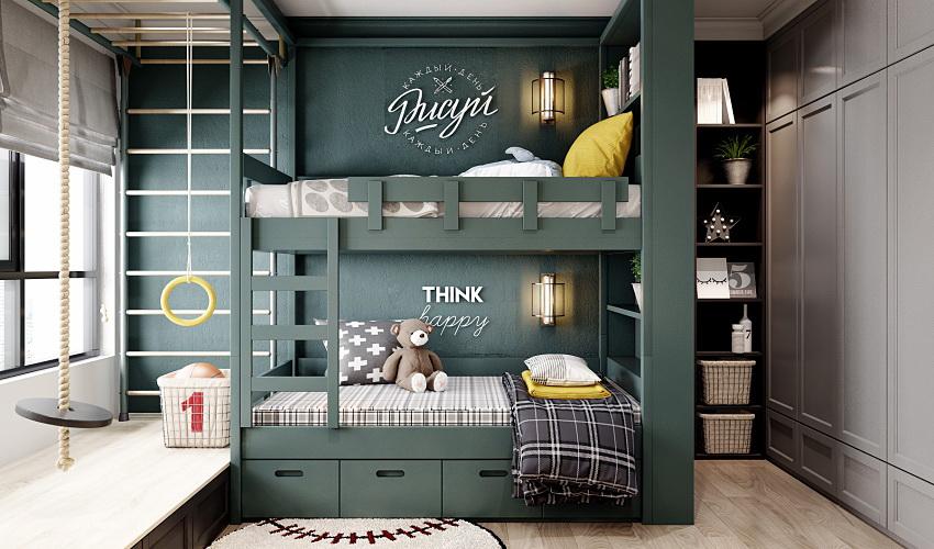 Выбирать двухъярусную кровать следует с учетом возраста детей с расчетом на 5-7 лет эксплуатации
