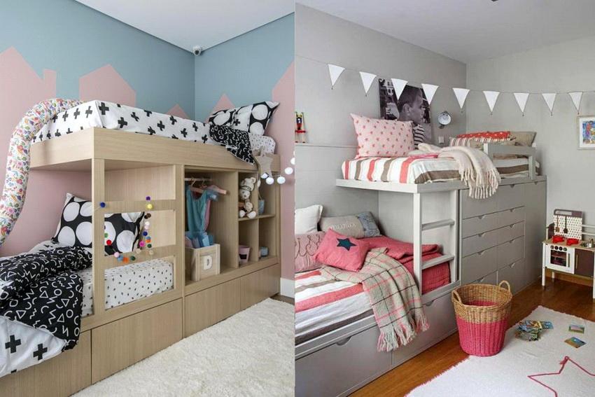 Двухъярусные кровати популярны в семьях, где есть 2 и более детей