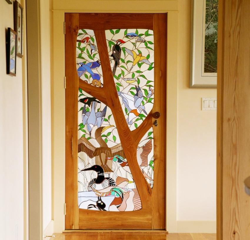 Благодаря технологии фьюзинга межкомнатные двери станут изюминкой интерьера