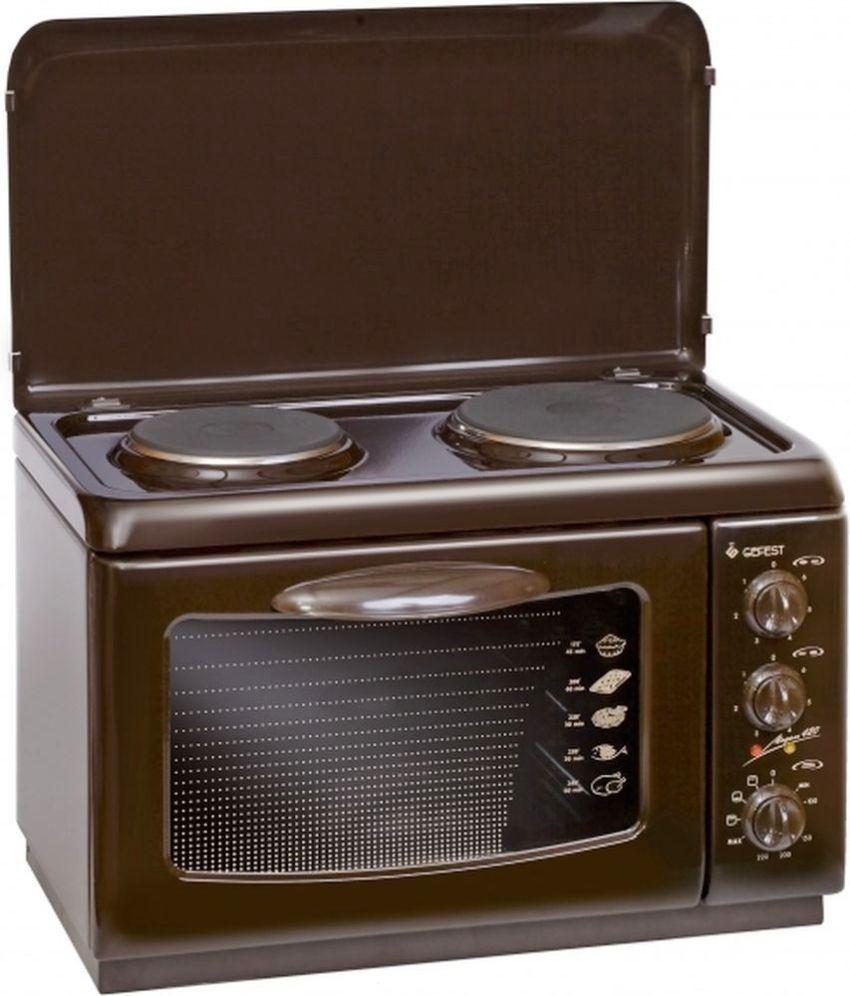 Электрическая плита Гефест 420 К19 с духовкой оборудована двумя чугунными конфорками