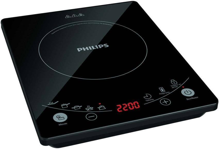 Мндукционная индукционная плита Philips HD4959/40 обладает широким диапазоном мощности в пределах 800-2200 Вт