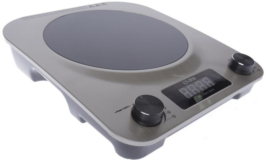 Управление работой индукционной плиты Iplate AT-2500 осуществляется с помощью поворотных переключателей